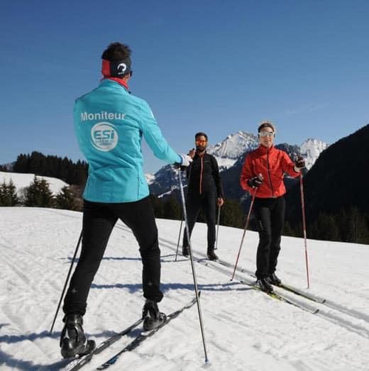 Cours ski de fond classique Glières